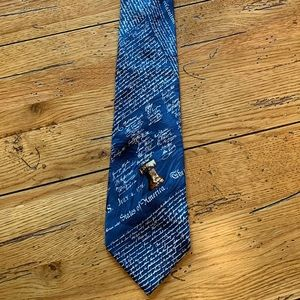 Other - Men's silk tie | Declaration of Independence blue